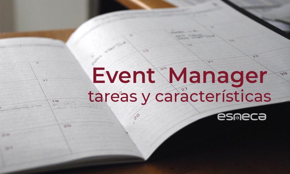 Características y tareas del event manager
