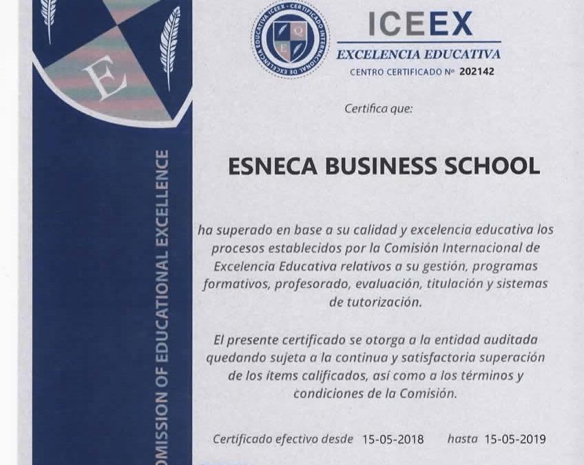 Esneca, calidad avalada por el certificado a la excelencia educativa