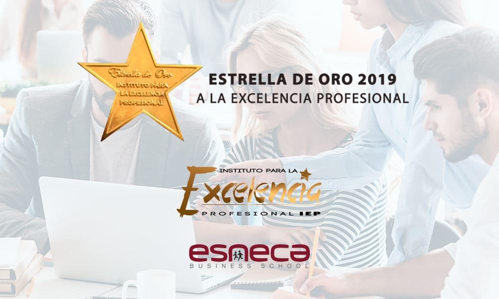 Esneca, galardonada con la Estrella de Oro a la Excelencia Profesional 2019