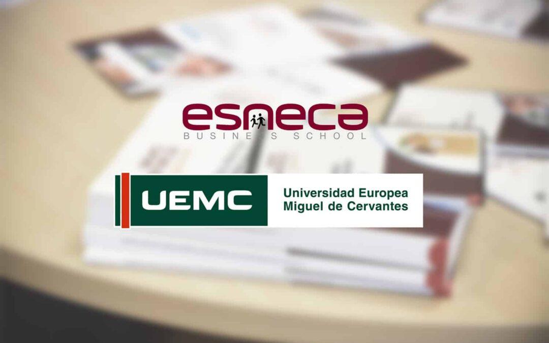 Colaboración entre Esneca y Universidad Europea Miguel de Cervantes